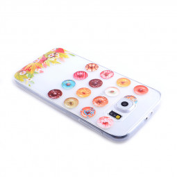 TPU Slim Thin Soft Case Back Cover Skin Shell for Samsung S6 - Donuts