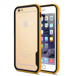 TPU + PC Bumper Frame Border Case for iPhone 6 4.7 - Yellow