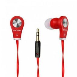 OV-K282 3.5mm Stereo Dynamic Earphone Headset - Red