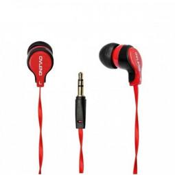 OV-K281 3.5mm Stereo Dynamic In-ear Earphone Headset - Red + Black