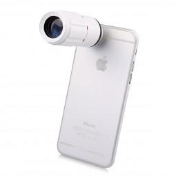Universal 8x Zoom Telescope Mobile Phone Lens - White