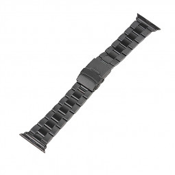 Stainless Steel Strap Classic Buckle Watch Bands for Apple Watch 38mm - Black