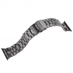 Stainless Steel Strap Watch Bands Belt for Apple Watch 38mm - Black