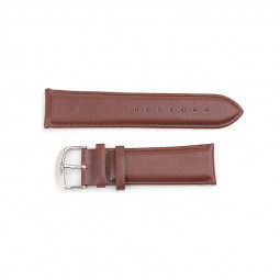Soft Genuine Leather Buckle Watchband Straps Band for Apple Watch 38mm - Brown