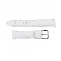 Alligator Pattern Genuine Leather Watchband Straps Band for Apple Watch 42mm - White