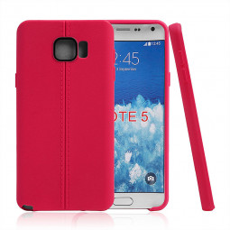 Middle Line Design TPU Soft Case Skin for Samsung Note 5 - Red