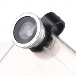 LX-P301 Universal 3 in 1 Fish Eye Lens Camera Kit Wide Angle Macro - Silver