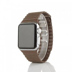 42mm Leather Loop Strap Watchband for Apple Watch iWatch - Brown