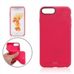 Honeycomb TPU Protective Phone Back Cover Case for iPhone 7 - Rose Red