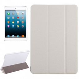 Slim PU Leather Magnetic Tri-Fold Smart Stand Cover Case for iPad Mini 4 - White
