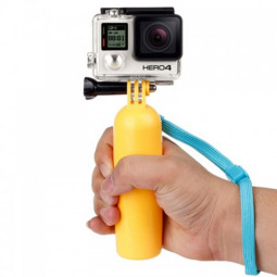 Hand Grip Floating Handle with Screw Strip for GoPro HERO 4 Session /4/3+/3/2/1 - Yellow
