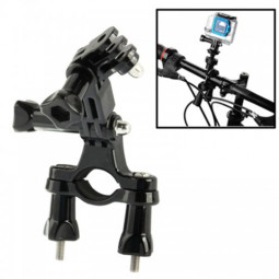 Bike Camera Handle Bar Mount Stand  Holder with 3 Way Pivot Arm for GoPro HD HERO 4/3+/3/2/1 - Black
