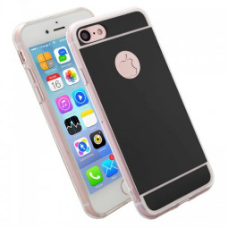 Luxury Mirror Soft Phone Cover Case for iPhone 7 - Black