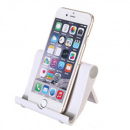 Universal Desktop Stand Station Holder for Smart Phones - White
