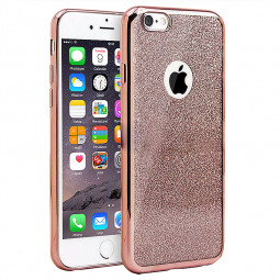 Fashion Bling Silicone Glitter Shockproof Case Cover for iPhone 7 - Rose Gold