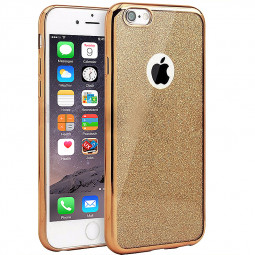 Fashion Bling Silicone Glitter Shockproof Case Cover for iPhone 7 Plus - Gold