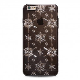 Fashion Snow Pattern Engrave Back Case Cover for iPhone 7 - Black