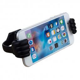 Flexible Thumb Pattern Lazy Tablet Phone Mount Holder - Black