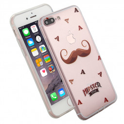 Fashion TPU Soft Protective Phone Cover Case for iPhone 7  Plus - Beard