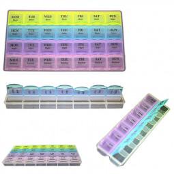 7 Day Weekly Pill Tablet Medicine Organiser Storage Holder Travel Box Case