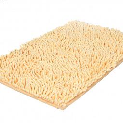Non Slip Chenille Floor Door Mat Rug Kitchen Bathroom Carpet - Light Yellow