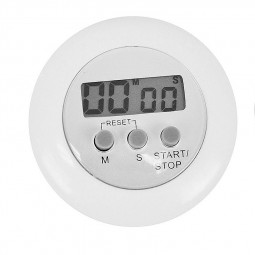 Digital Magnetic LCD Stopwatch Timer Kitchen Racing Alarm Clock - White