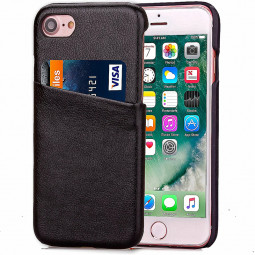 Fashion Protective Back Card Phone Case for iPhone 7 - Black