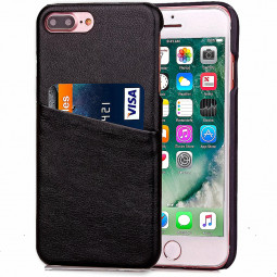 Fashion Protective Back Card Phone Case for iPhone 7 Plus - Black