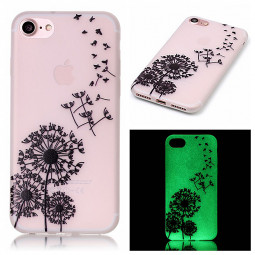 Luminous in Dark TPU Protective Phone Back Cover for iPhone 7 - Dadelion