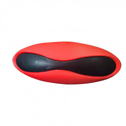 Small Rugby Bluetooth Speaker Music Wireless SD-Card Stereo MP3 - Red