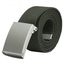 Unisex Casual Thick Wide Canvas Bales Catch Belt for Men or Women - Army Green