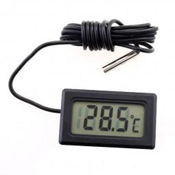 1m LCD Digital Fridge Freezer Thermometer Temperature Refrigerator - Black