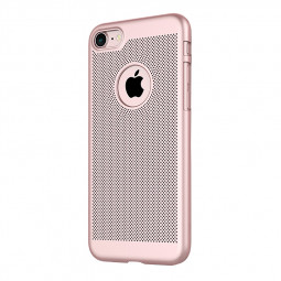 Fashion Honeycomb Breathable Phone Back Cover Case for iPhone 7 - Rose Gold