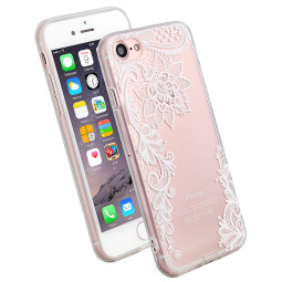 New Slim Soft TPU Transparent Printing Phone Case for iPhone 7 - White Ceiling Decorative