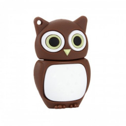 iGloo 8GB Novelty Cute Baby Owl USB 2.0 Flash Drive Data Memory Stick Device - Brown and White