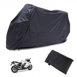 Motorcycle Waterproof Outdoor Motorbike Rain Vented Bike Cover Size XXXXL - Black