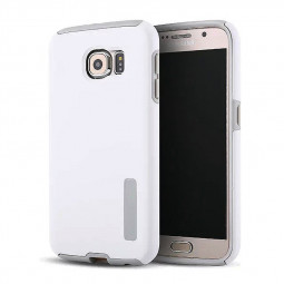 High Quality 2-in-1 Frosted PC TPU Shell Case Cover for Samsung S6 - White