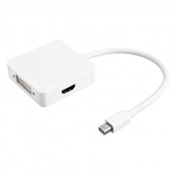 Mini DP Displayport Display Port to VGA Male Cable Adapter for Macbook Pro Air - White