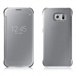 Mirror Effect Flip Smart Case Cover for Samsung Galaxy S7 - Silver