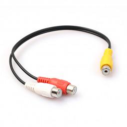 RCA Female Splitter to 2RCA Female Audio Video Adaptor Cable