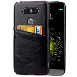 Fashion Phone Back Cover Case with Card Slot for LG G5 - Black
