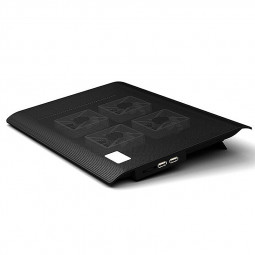 L112A 4 Fans Notebook USB Cooling Pad Cooler Mat for Laptop 10-17inch - Black