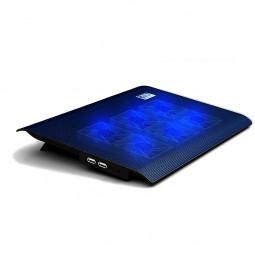 L112B 6 Fans Notebook USB Cooling Pad Cooler Mat for Laptop 14-15.6inch - Black