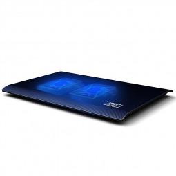 L112 2 Fans Notebook USB Cooling Pad Cooler Mat for Laptop 13.3-15.4inch - Black