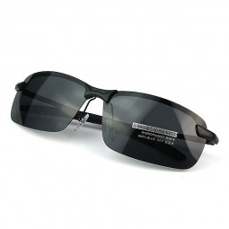 Fashion Retro V400 Men's Polarized Driving Outdoor Sports Sunglasses - Black