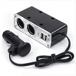 2 Way Car Cigarette Lighter Power Socket Charger Adapter USB Port Chargers
