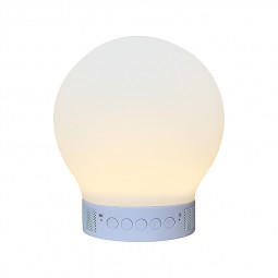 Smart LED Floor Night Lights Bluetooth Speaker Color Lamp - Round