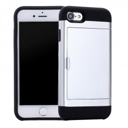 4.7inch Fashion Back Slot Card Phone Cover Case for iPhone 7 - Silver