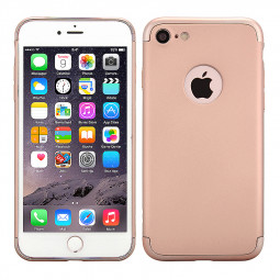 3 in 1 Frosted Plating Fashion Phone Back Cover Case for iPhone 7 - Rose Gold