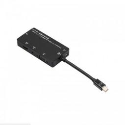 Mini DP Adapter 4 in 1 Mini Display Port to HDMI/DVI/VGA/Audio Converter - Black